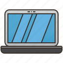 computer, laptop, notebook, portable, technology icon