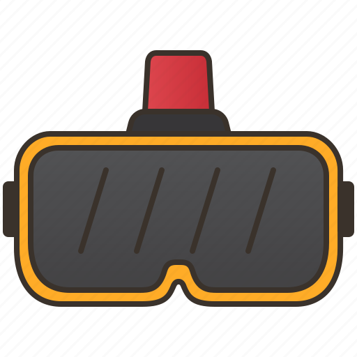 gadget, gaming, goggles, reality, virtual icon