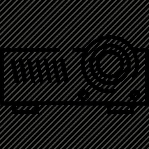 movie, presentation, projector, screen, video icon