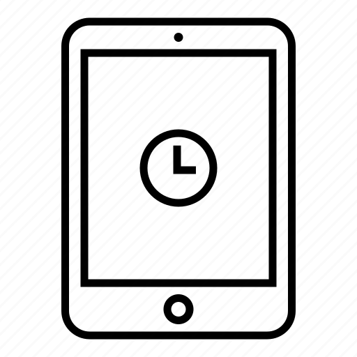 clock, device, mobile, pad, tablet, time, timer icon