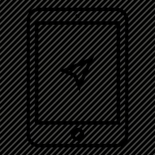 device, geolovation, gps, lovation, navigation, pad, tablet icon
