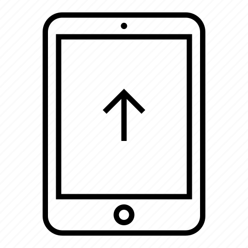 data, device, file, mobile, pad, tablet, upload icon
