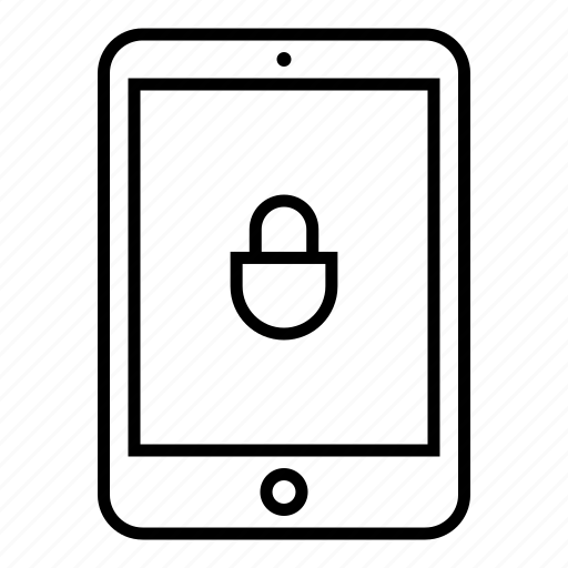 device, lock, pad, passcode, password, protect, tablet icon