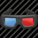 3d glasses, cinema, glasses, movie, technology icon