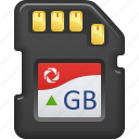 data, data storage, memory card, technology icon