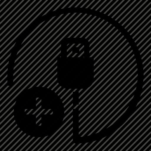 hardware, new, plug icon