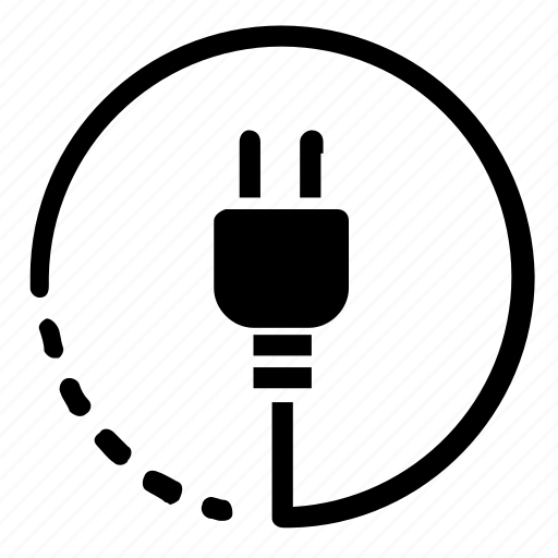 electricity, plug icon