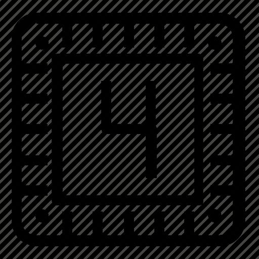 microchip, storage icon