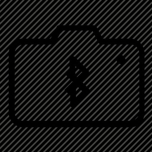 bluetooth, camera icon