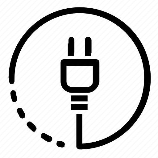 cable, electricity, plug icon
