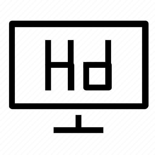 hd, screen, television icon