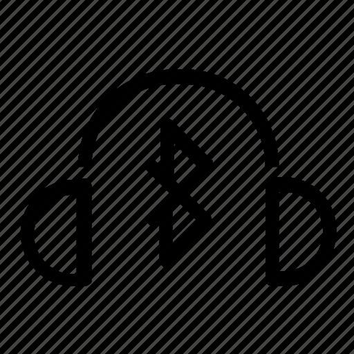 bluetooth, head, set icon