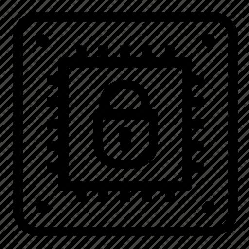 lock, microchip icon