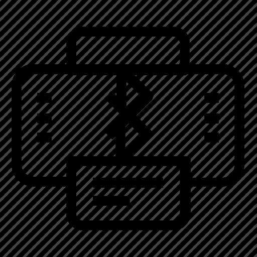 bluetooth, printer, wireless icon