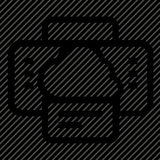cloud, printer icon