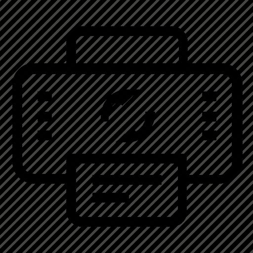 printer, refresh, sync icon