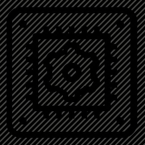 microchip, settings icon