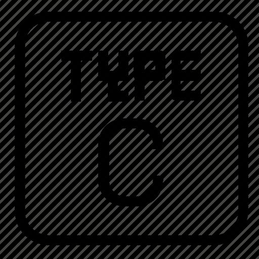 c, type icon