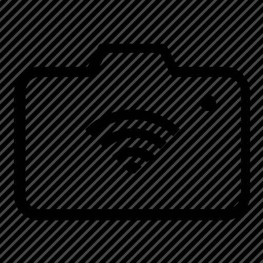 camera, wireless icon