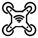 drone, wireless icon