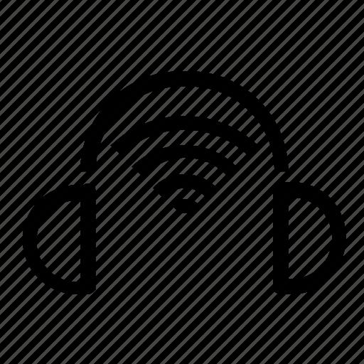 head, headphones, set, wireless icon