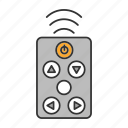 channel, control, controller, player, remote, television, tv icon