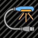 computer, device, gadget, lamp, light, plug, usb icon