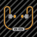accessory, audio, earphones, headphones, headset, listen, music icon