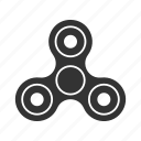 antistress, device, gadget, rotate, spin, spinner, toy icon