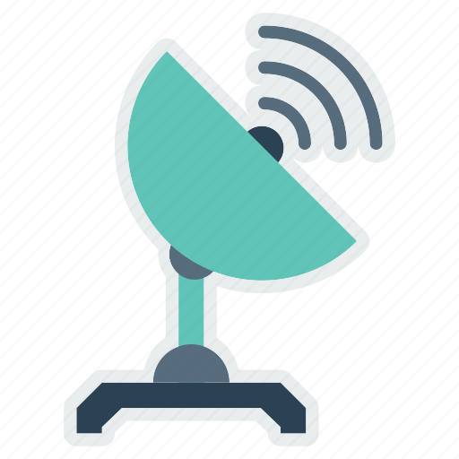 communication, electric, radio, satellite, telescope, tracker, wave icon