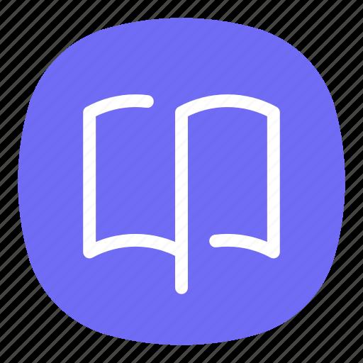 app, book, boomark, e-book, library, mobile, ui icon