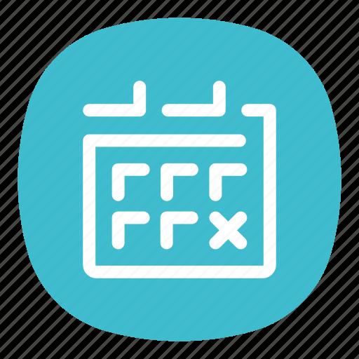 agenda, app, calendar, events, galaxy, mobile, ui icon