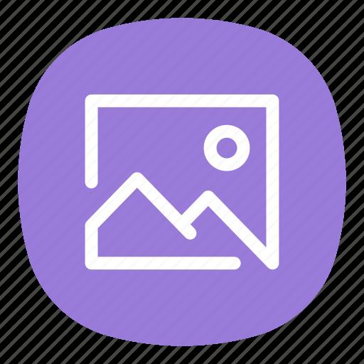 app, galaxy, gallery, image, mobile, open line, ui icon