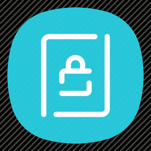 app, locked, lockscreen, mobile, open line, screen, ui icon