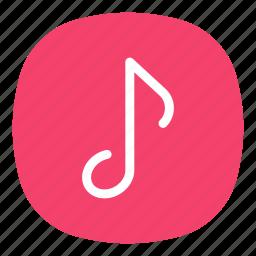 app, mobile, music, open line, playlist, track, ui icon