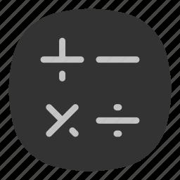 accounting, app, calculate, calculator, galaxy, mobile, open line icon