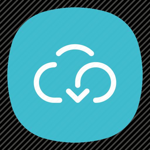 app, cloud, internet, mobile, open line, storage, transfer icon