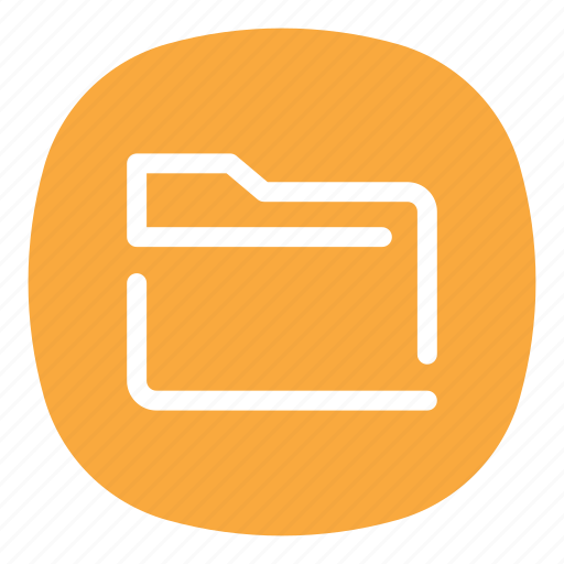 app, directory, files, folder, mobile, my files, open line icon