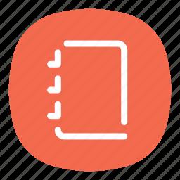 agenda, app, memo, mobile, notepad, notes, open line icon