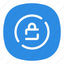 app, encrypt, galaxy, mobile, open line, protection, secure icon