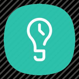 app, light, mobile, open line, screen, screenlight, timer icon