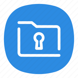 app, encrypted, folder, mobile, open line, protected, secure icon