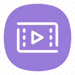 app, editor, mobile, open line, play, player, video icon