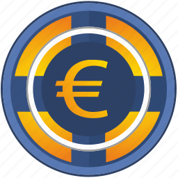 casino, euro, gamble, game, poker chip, roll icon