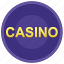 casino, gamble, game, poker chip icon