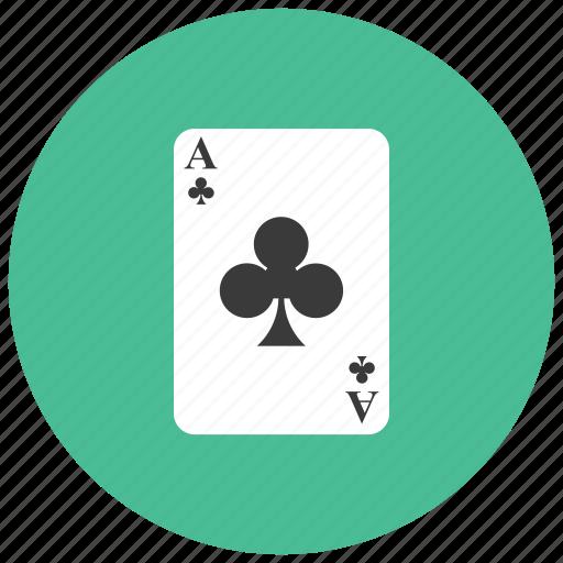 ace, card, club, gambling, game icon