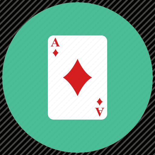 ace, card, diamond, gambling, game icon