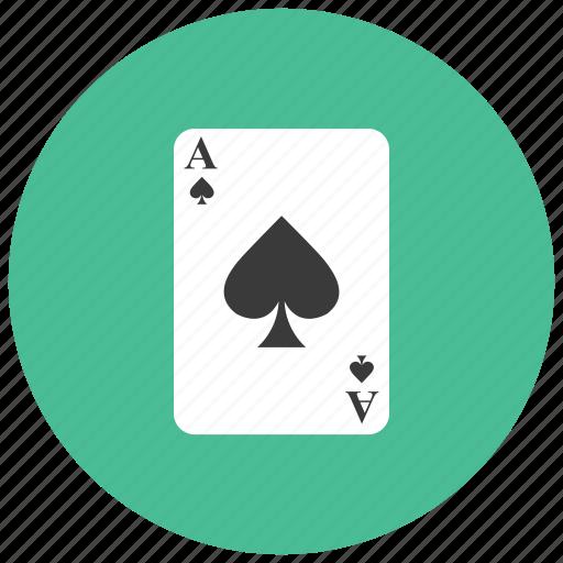 ace, card, gambling, game, spade icon