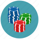 casino, chips, gambling, game icon