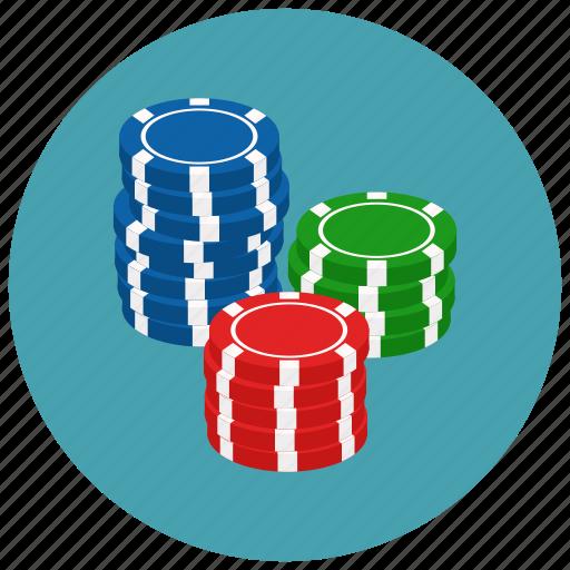 casino, chips, gambling, game icon